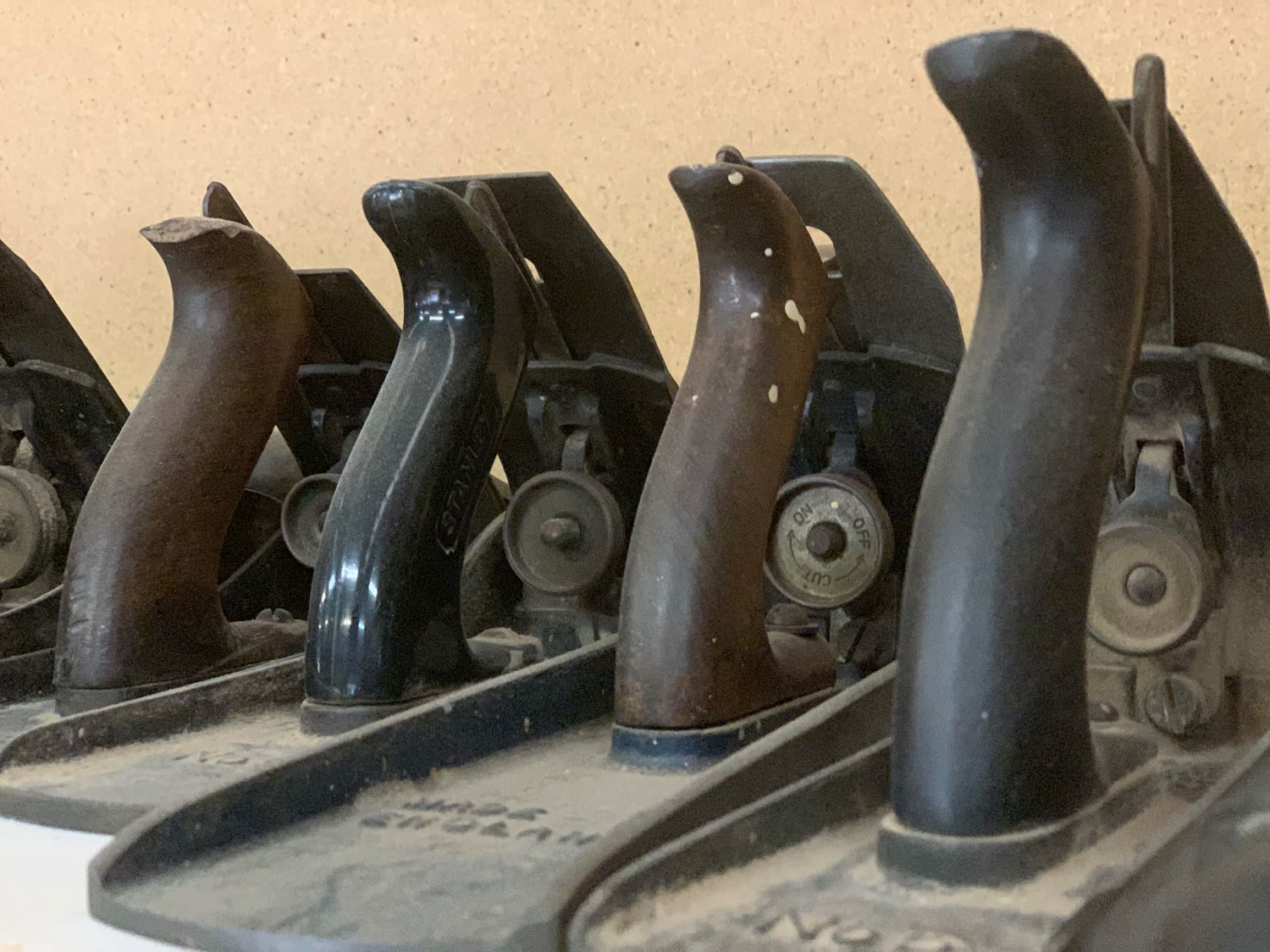 Hand planes in their varying sizes.