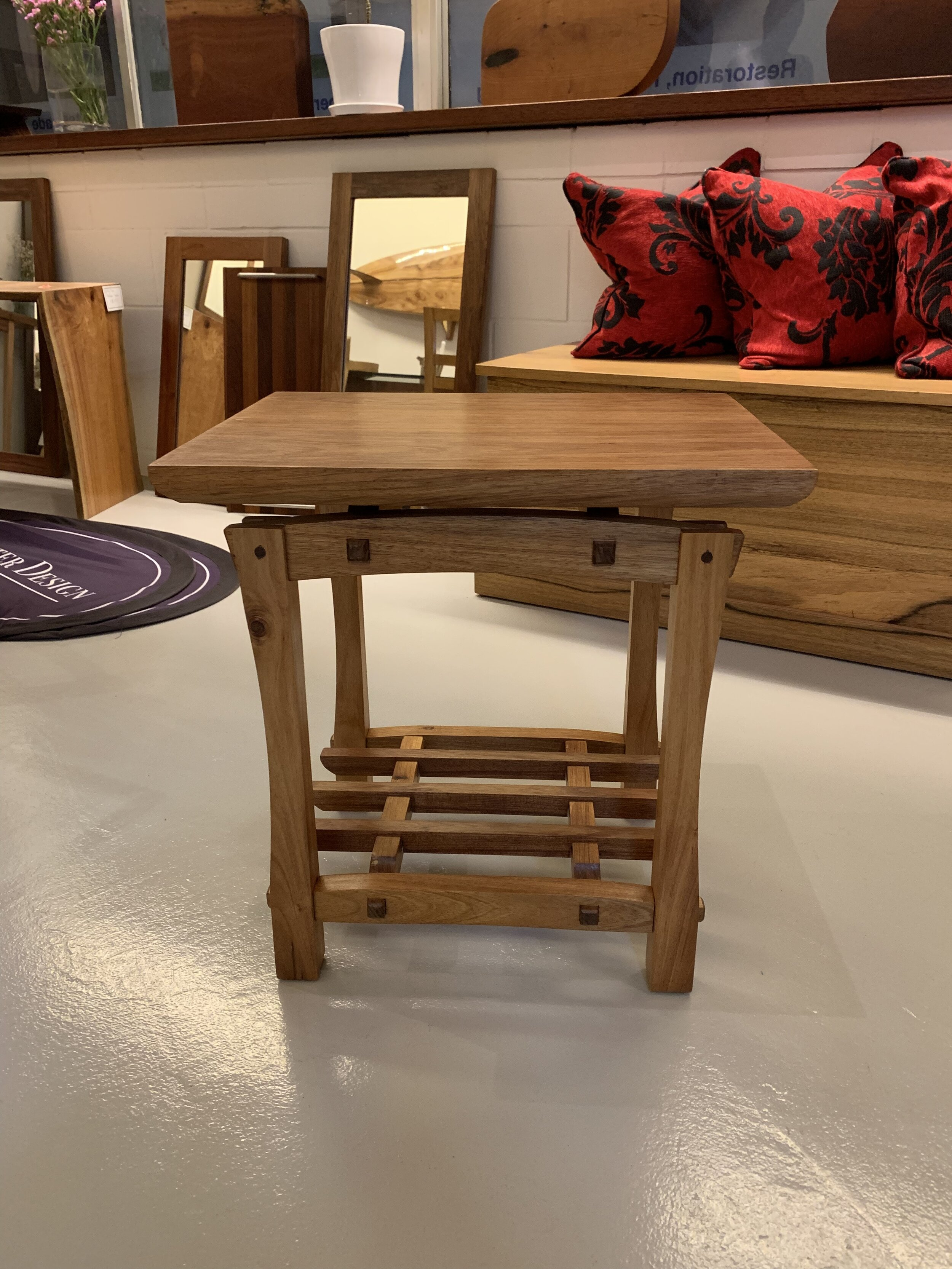 Beautiful execution of design and technique from Geoff woodworking student