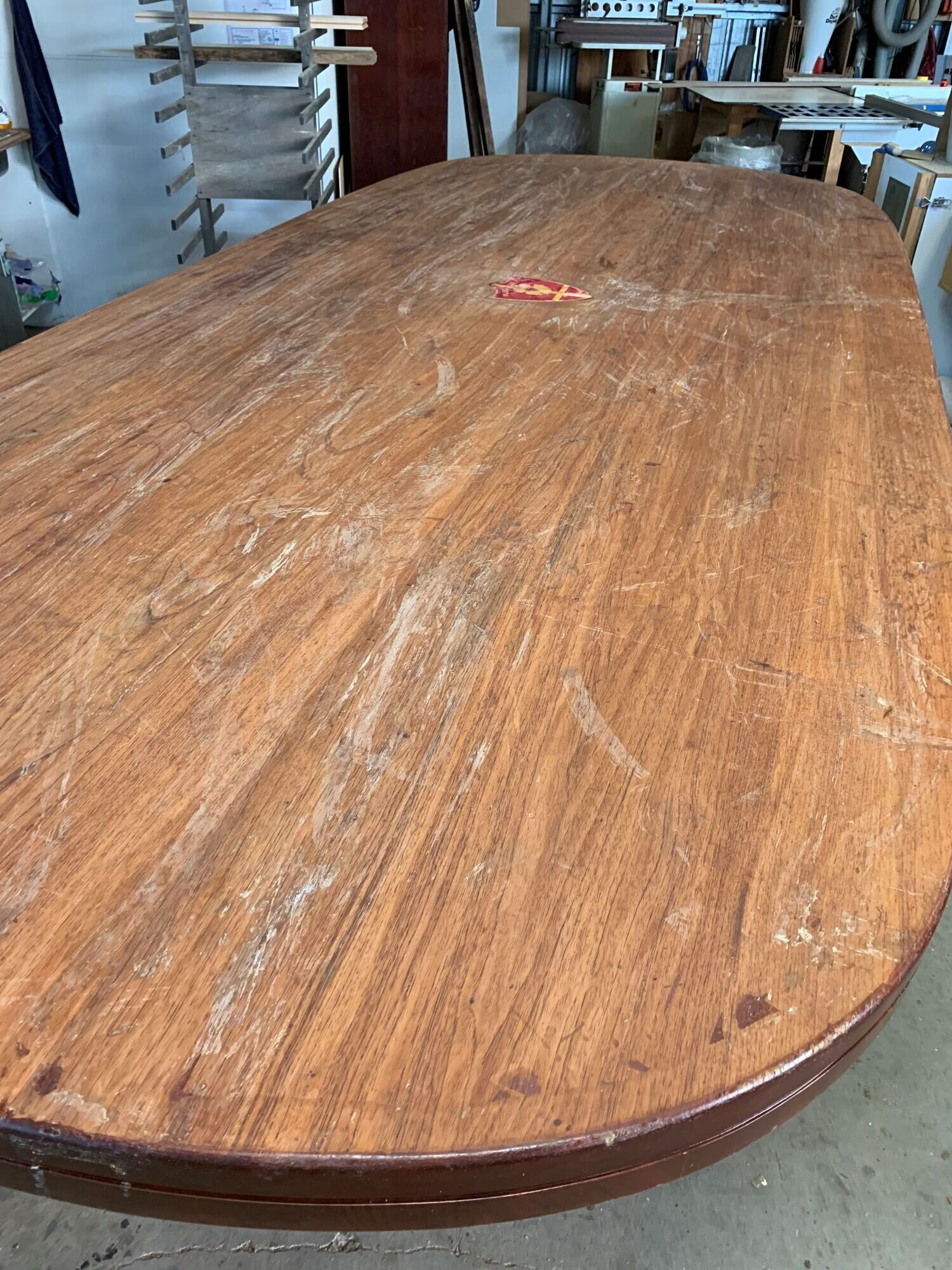 Boardroom table pior to its makeover