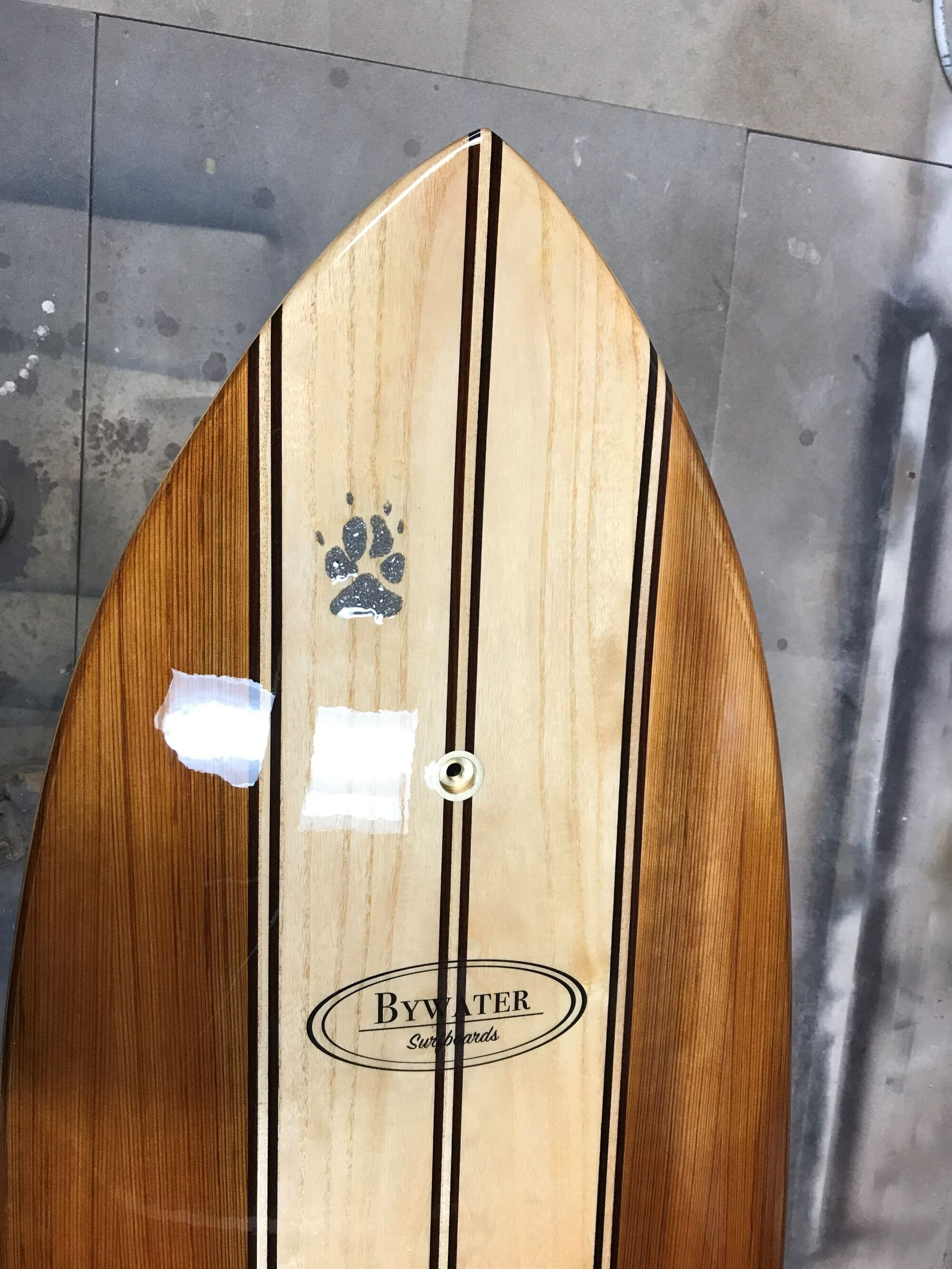 A personal touch to a student surfboard