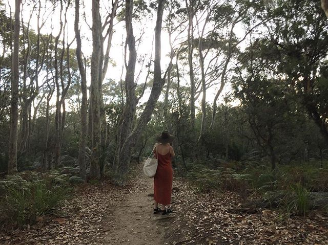 strolling through the spotted gums after a float in paradise (aka Nelson's Lagoon), with the loveliest folk 🧡💫🌿