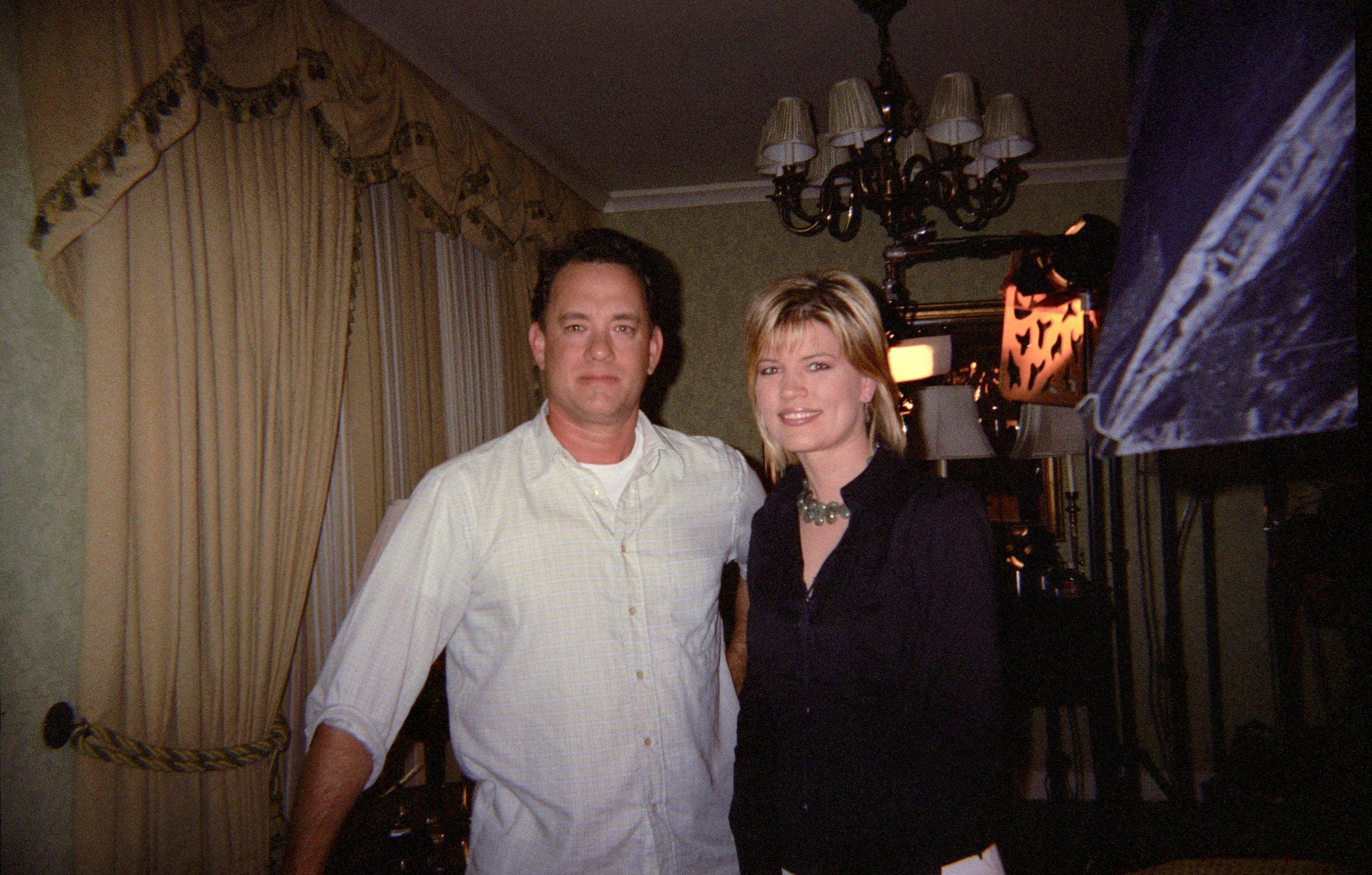 Interviewing actor Tom Hanks