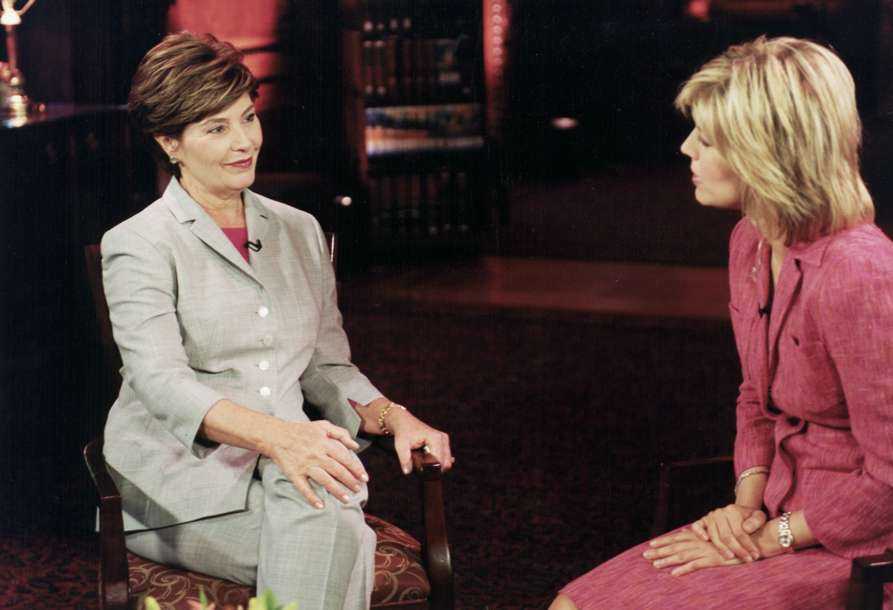 Interviewing former First Lady Laura Bush