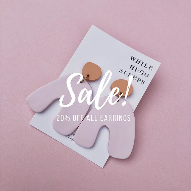 TIME FOR A SALE! Head over to the website to enjoy 20% off everything, and guess what...there's earrings from 7 different collections available including a restock of BACK TO BLACK. Get on over there! 🏃🏻‍♀️