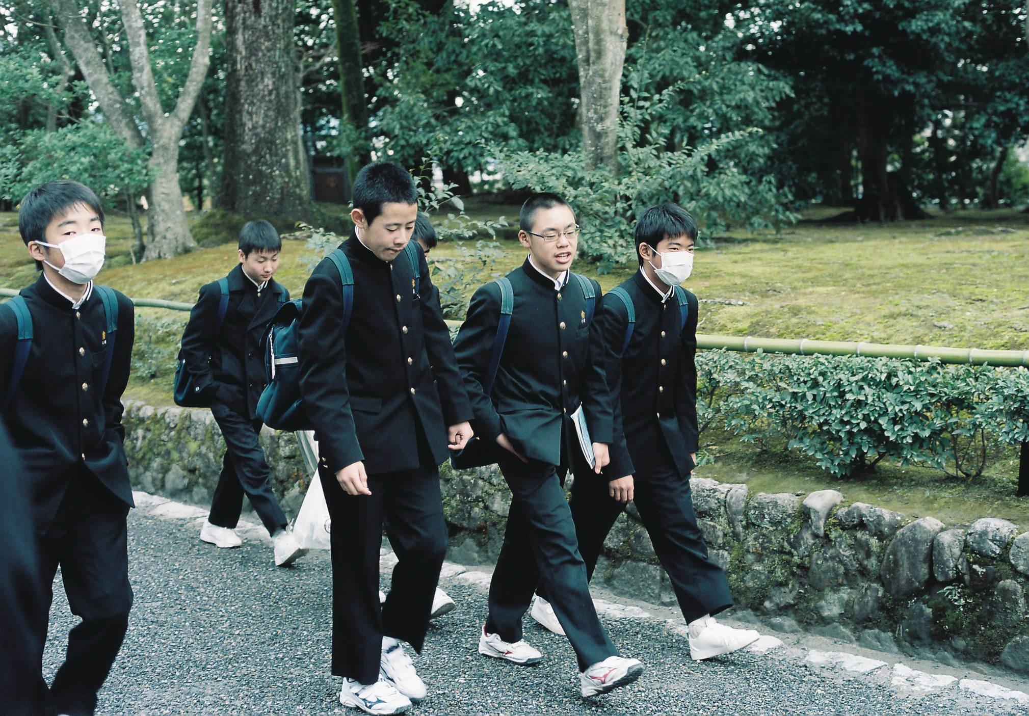 Japanese school boys , Kyoto (2018)