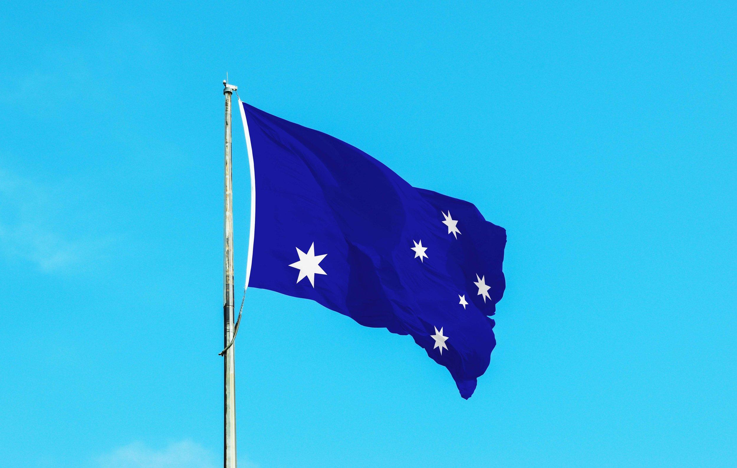 Jackless Flag of Australia Flag Pole.jpg