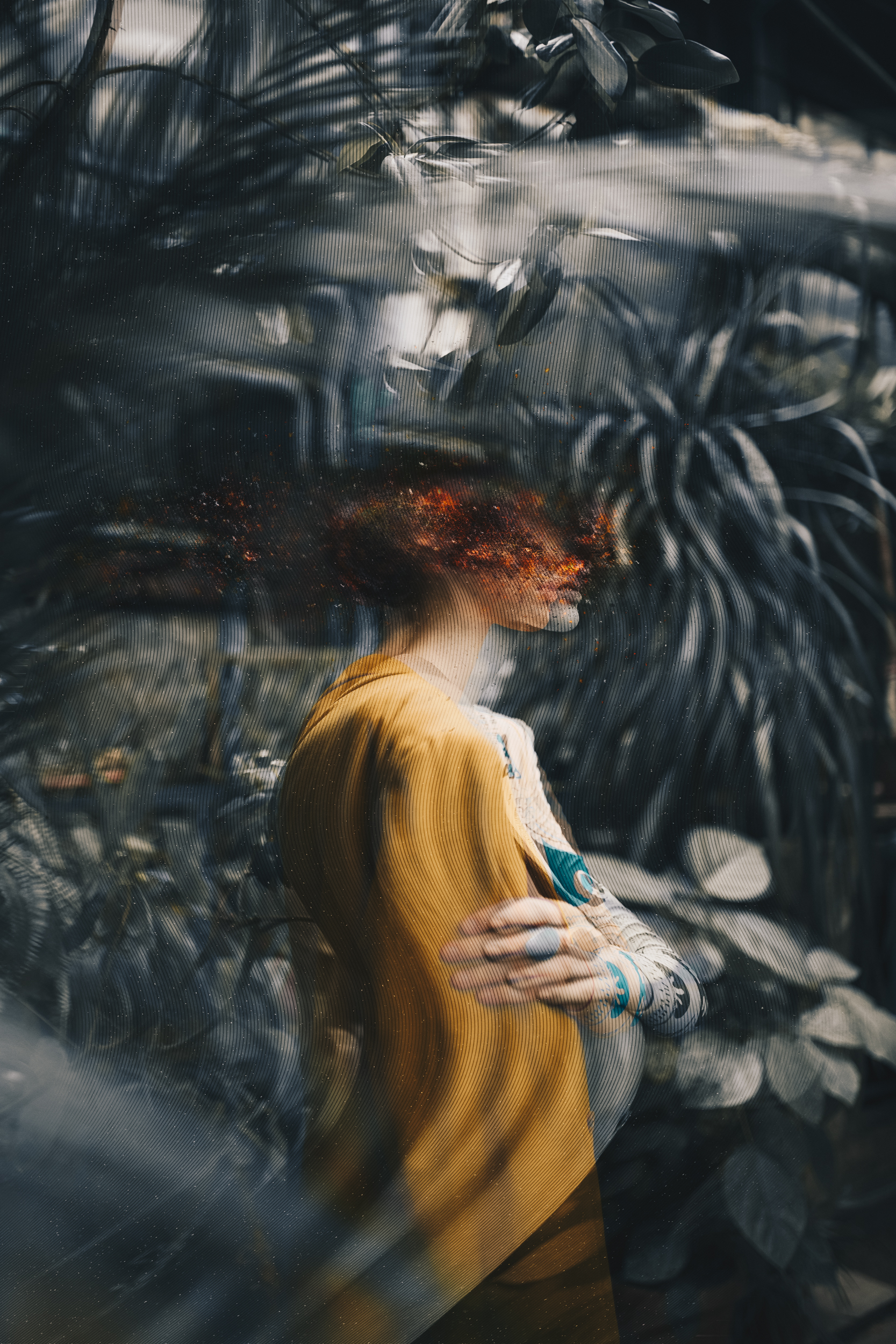 distorted combustion - portrait