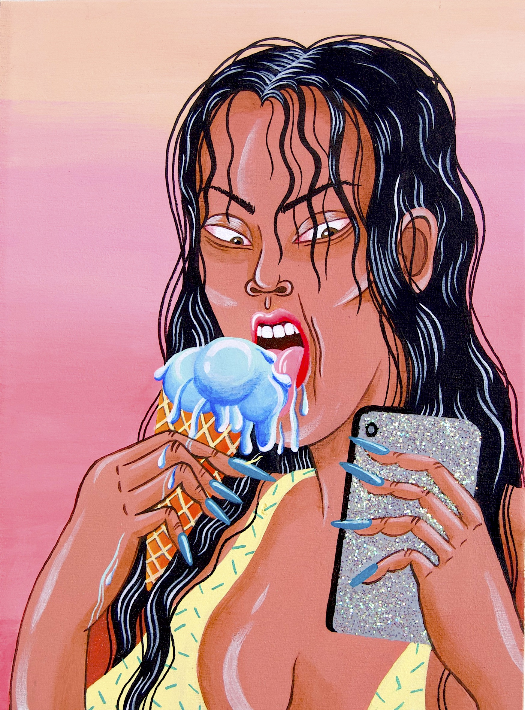 Woman With Ice-Cream