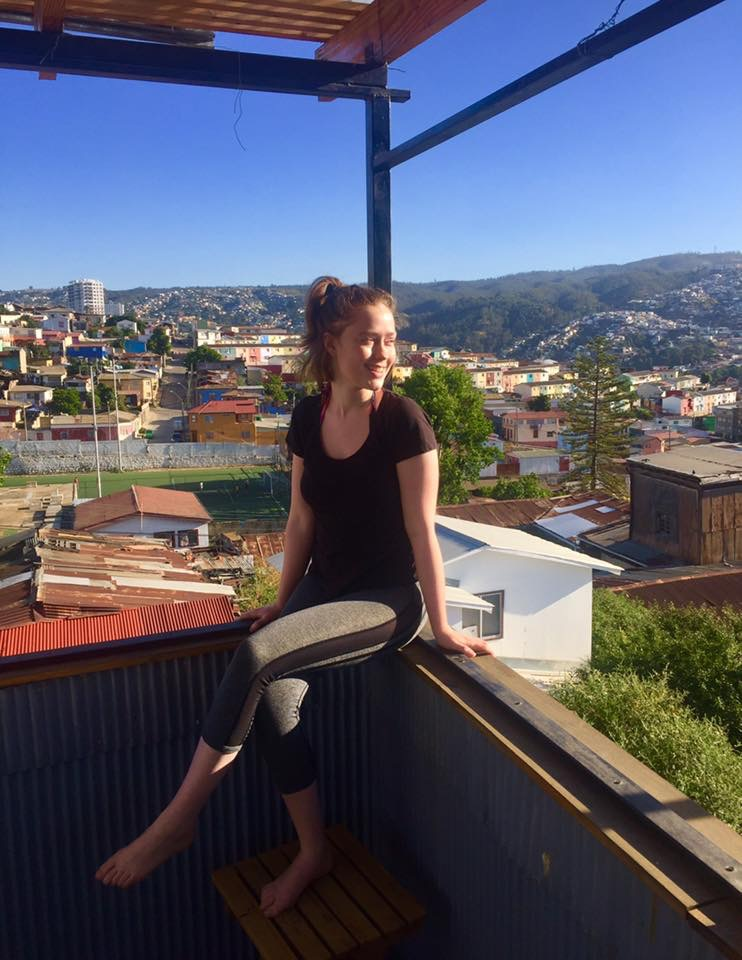 Happy and carefree in Valparaiso, Chile.