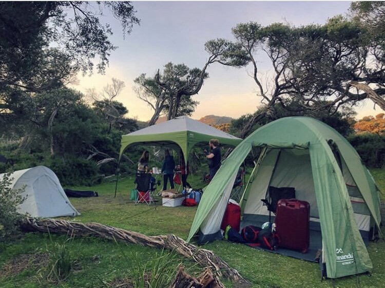 Our awesome setup at Wilsons Prom - our second home! It's been a long time since we last came up to this magical place! We used to come up here at the end of every year with our family. It was amazing to be back <3 Photo credit:  @meliaallan