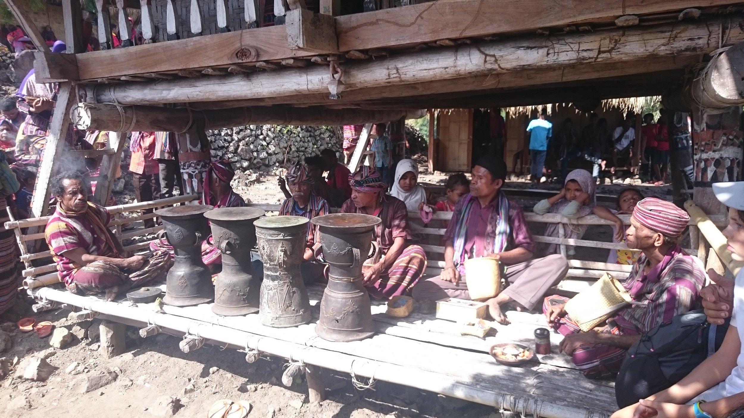 Moko drums at Bampalola village