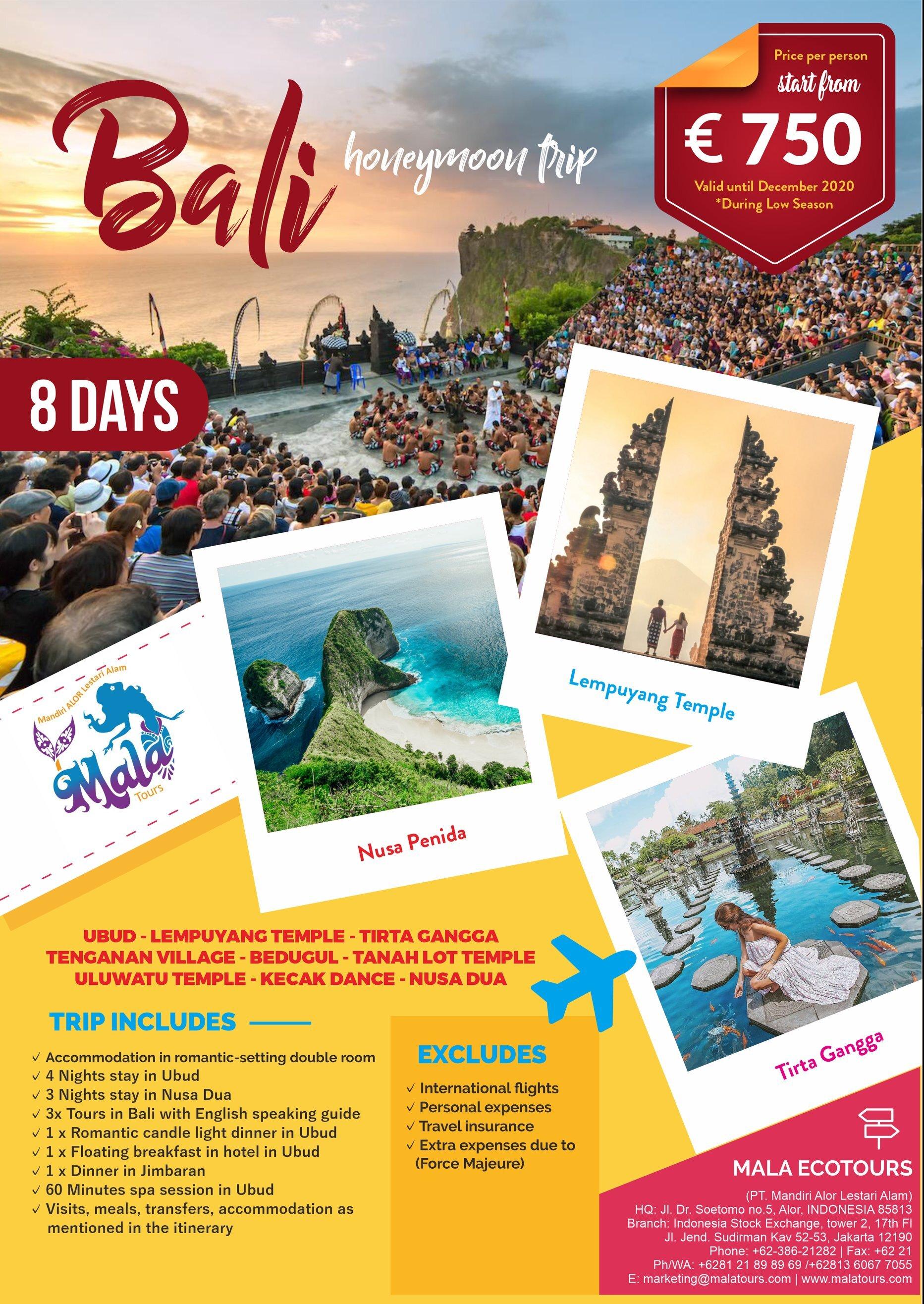 Promo Bali Honeymoon Tours Bali Wedding Anniversary Bali Flower Bath Bali Honeymoon Mala Tours