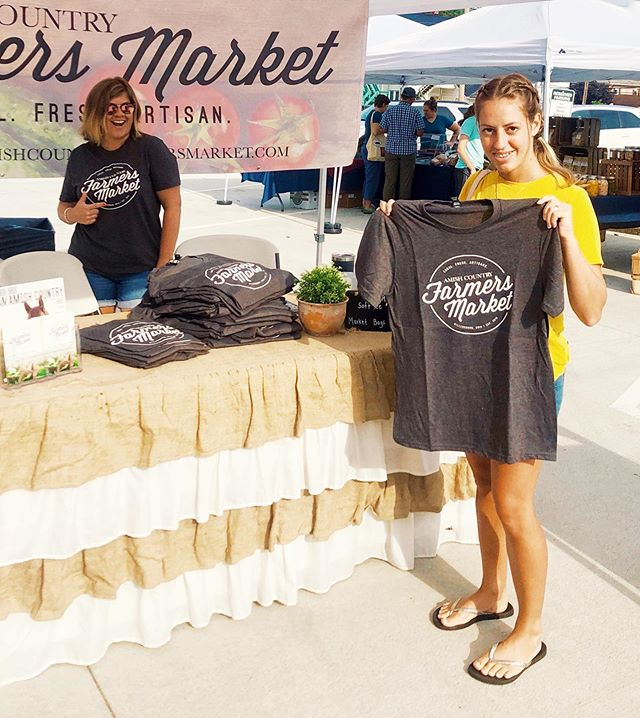 Audrey, @mrs.schrock just picked up her giveaway T-shirt this morning at the market! We're excited for those who rock our OACFM tees! : Thanks for supporting local #oacfarmersmarket #farmersmarket #shoplocal #millersburg #amishcountry