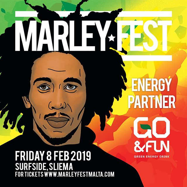 💚💛❤️ MEET OUR PARTNER - GO&FUN 💚💛❤️ 😍 We are delighted to welcome Go&Fun Green Energy Drink Malta as official partners of MARLEY FEST 2019!  The Natural Green Energy drink will be available at the event in case y'all need a little boost to rock the dance-floor till the end of the night! 🎉 No more excuses, get your dancing shoes on and let's get skanking 💚💚💚 ONE LOVE 💚💚💚