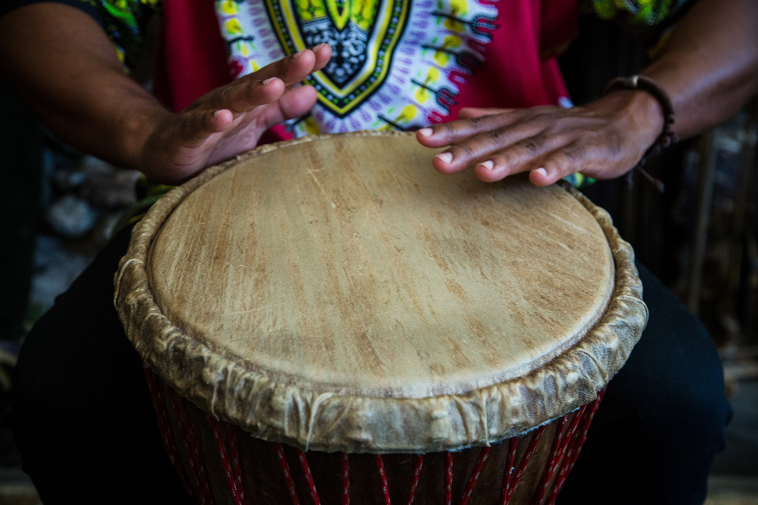 Drums/Djembe in Itacaré, Bahia, Brazil, a place with a big Afro-Brazilian Culture