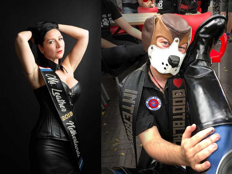 - We are delighted with the presence of two special guests to join us in the bar at the Boots : Meet the one and only International Mister Bootblack 2019 Kriszly de Hond and the very first Miss Leather Netherlands Suzanne Van de Laar !