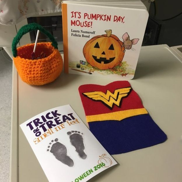 The families also got special Trick or Treat gifts. Image copyright:MARCH OF DIMES.