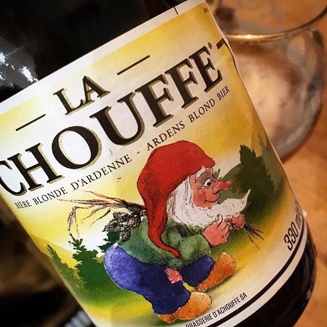 A lovely beer from Brasserie D'achouffe with a great label. I'm sure you agree.  #lachouffe #breweryachouffe #belgianbeer #brasseriedachouffe #bierhuisgrandcafe #stives #gnomes #goldenbeer #hoppy #fresh #coriander #fruity #zest #belgianardennes #cornwall