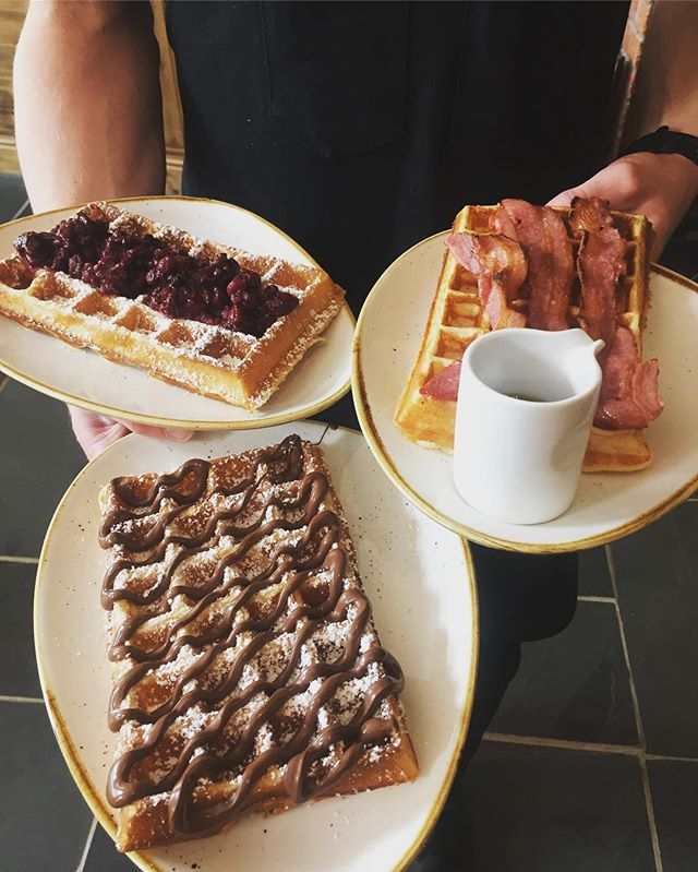 Who fancies trying our delicious variety of home made breakfast & all day waffles? 😋. Here is a small selection of what we have to offer- yummy! Come & see us on 16 St Andrews Street! 😊 #bierhuisgrandcafe #16standrewsstreet #bierhuis #beerhouse #waffles #yummy #allthewaffles #come&seeus #newbusiness