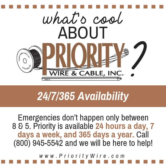 Convenience is KEY… - and Priority Wire has unlocked the door!Call anytime, day or night, and you'll get a response!
