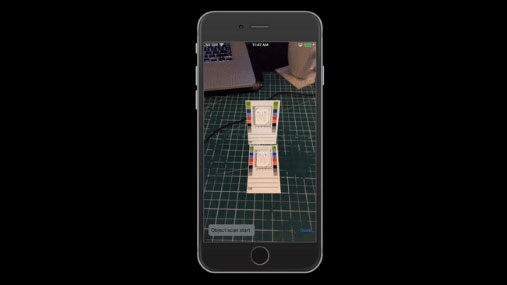 Augmented reality feature extraction demonstration