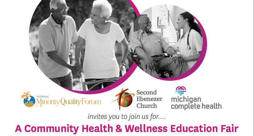 Community Health and Wellness Education Fair Flyer