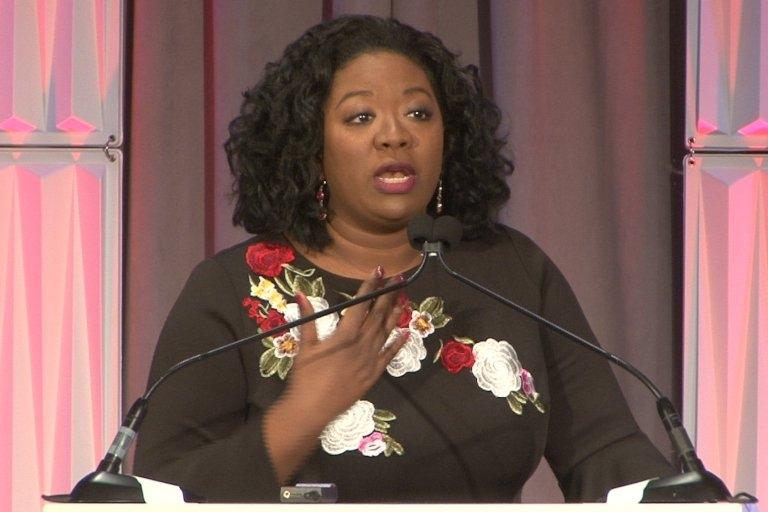 Shryea Thompson speaking