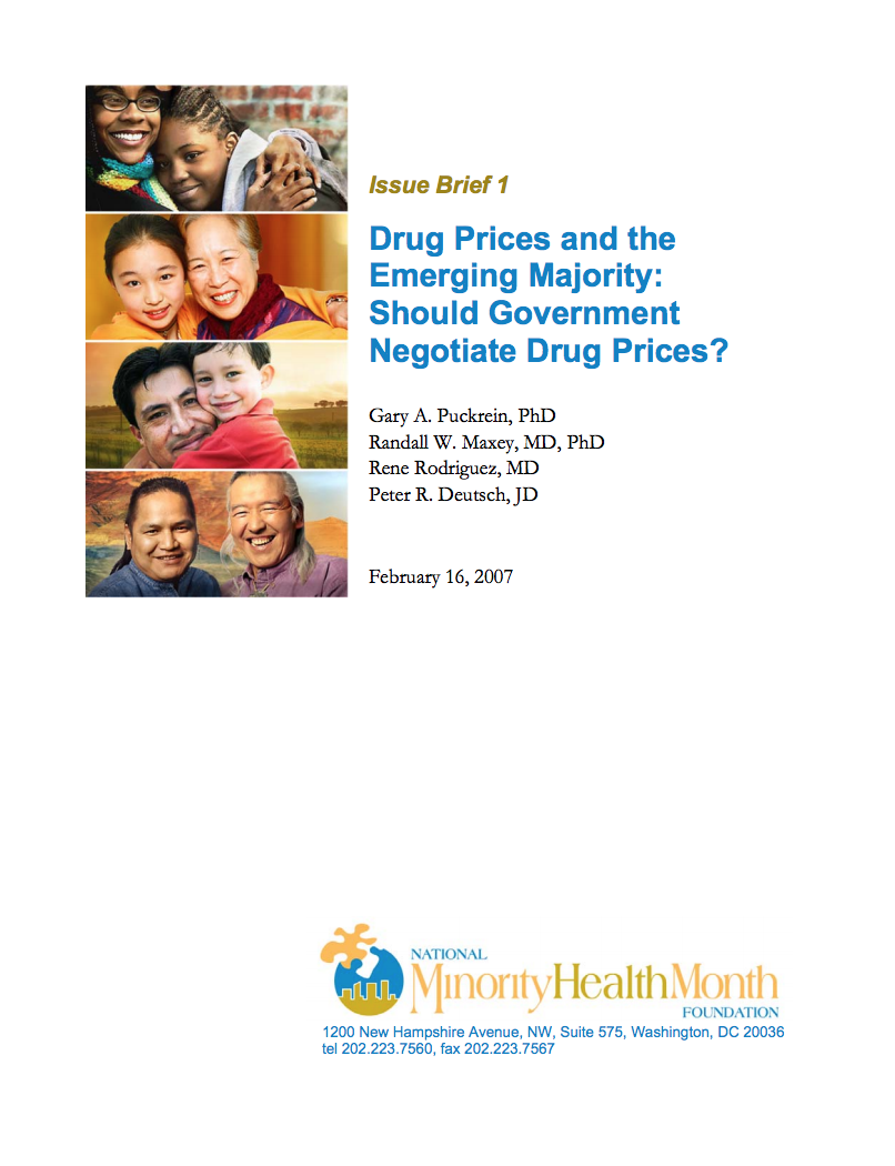 Drug Prices and the Emerging Majority Cover