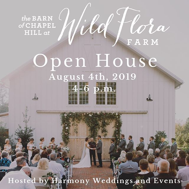 We are beyond excited to be hosting an open house for one of our absolutely FAVORITE wedding venues! We have been so lucky to have a relationship with Kara and Jenn from the day they opened, and are blessed to call them friends ❤️ We hope engaged couples and vendors will join us for their ONLY open house of 2019!! We have one of the greatest vendor lineups, check it out below! LINK IN BIO TO REGISTER! . Venue: @barnofchapelhill . . Florist: @wildfloraflowers . . Wedding Planners:  @harmonyweddingsnc  @asouthernsoiree . . Caterers @rocky_top_caters  @cateringworks  @cookshackcatering  @durhamcateringco . . Photographers: @morgancaddellphoto  @kaseysmithcreative . . Beauty:  @weddedkiss . . DJ: @allaroundraleighdj . . Cake: @love_cakenc . . Videographer: @thomasblakefilms . . Transportation: @trianglecorporatecoach . . Rentals: @ce_rental  @cottageluxe  @getlitspecialeventlighting . . Hotel: @hamptoninncarrboro . . Signage:  @letteredwithlovenc . . Officiant: @personalweddingsnc . . Drinks: @pourbarservices . Poet On-Demand: @ryanashley_theartist . . . Photo Credit: @ginnycorbett  #ncopenhouse #weddingopenhouse #ncwedding #ncweddingvenue #raleighwedding #chapelhillwedding #barnofchapelhill #harmonyweddingsevents