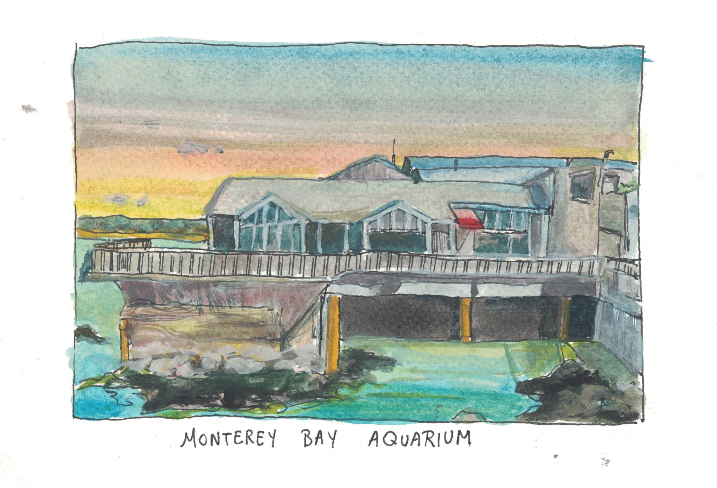 Monterey Bay Aquarium (Painted).jpeg