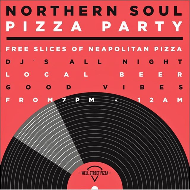 NEXT FRIDAY 💃💃 another pizza party for #Peckham 🔥🔥 with DJs @oakzar and @shrimmpiswallow 🔊 - Aperol Spritz outdoor bar - free slices of pizza - beer pong - local beer - Northern Soul tunes to get your groove on🕺💃 . . . . . . . . . #northernsoul #northernsoulpeckham #whatsonpeckham #peckhamevents #southeastlondon #pizza #neapolitanpizza #pizzanapoli #pizzaparty #pizzapartypeckham #vinyl