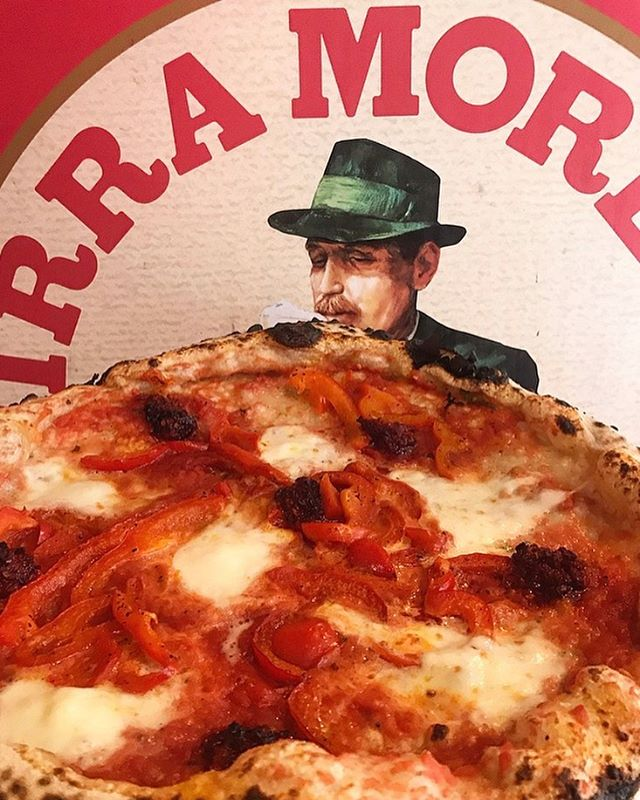Even Mr Moretti wants a piece of this 😏. Buffalo mozzarella, n'duja & peppers. All the good stuff 🤤. And yes we have Birra Moretti on tap. Nothing better than having a pizza and washing it down with a fresh crisp beer in the sun ☀️🍺 . . . . . . . . . . #pizzaandbeer #birramoretti #draughtbeer #pizzatime #beertime #beerinthesun #neapolitanpizza #woodfiredpizza #upbsummer #buffalomozzarella #nduja #spicypizza #softcrustpizza #italianbeer #italianfood #hackneyfood #hackneypizza #londonpizza #napolipizza #napoli #wellstreetpizza #boozeandpizza #beerandpizza