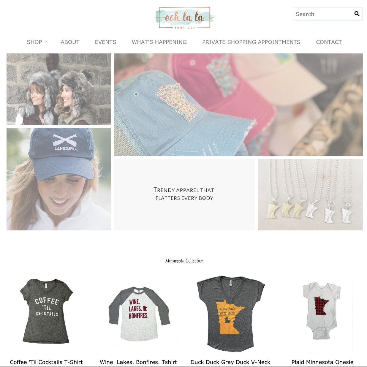 Ooh La La Boutique Website