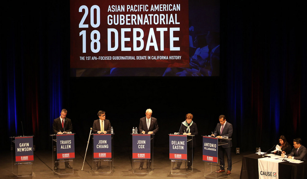 The 2018 Asian Pacific American Gubernatorial 2018 Debate at the Sexson Auditorium at Pasadena City College.
