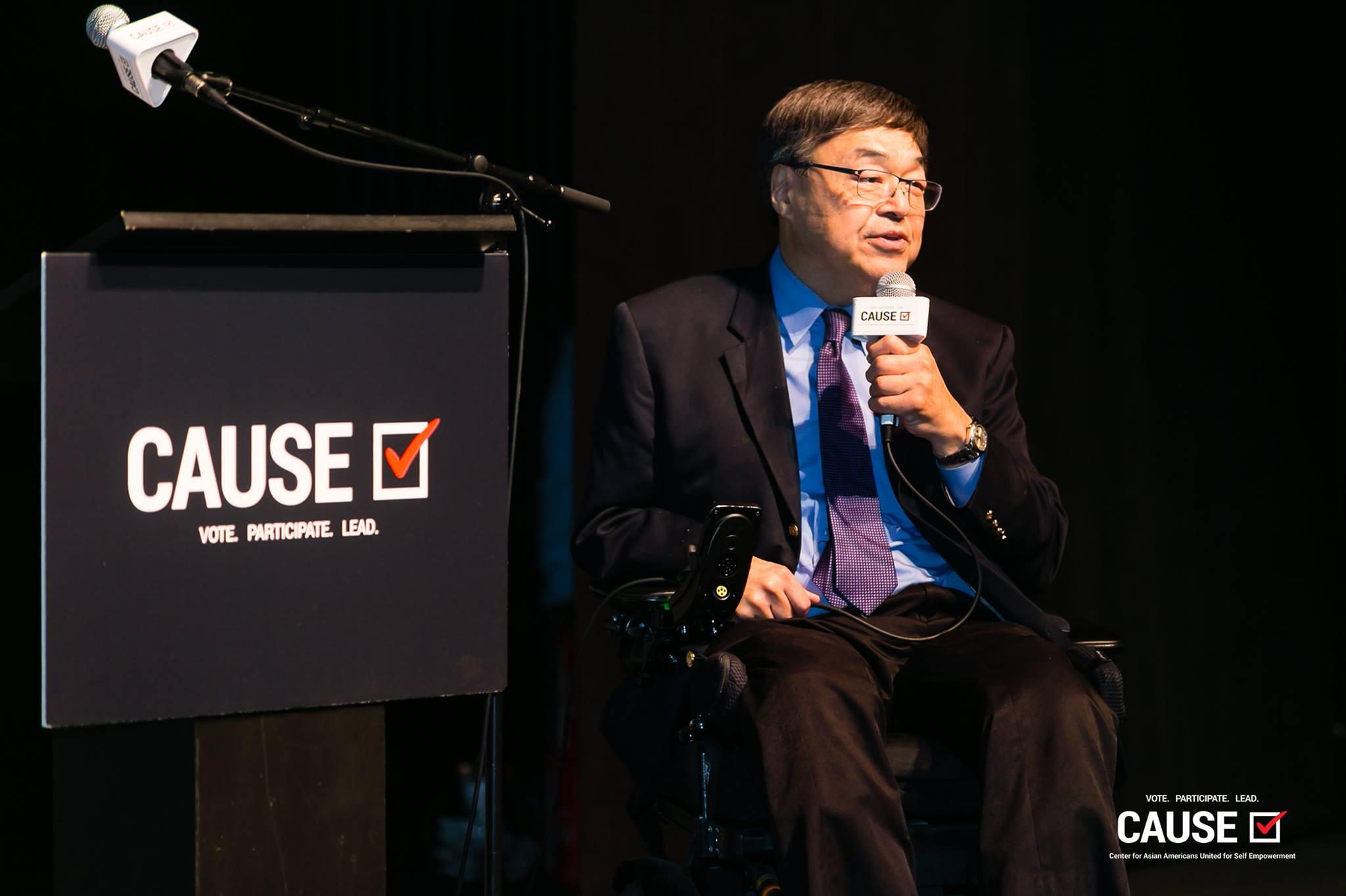 Charlie Woo speaking at the 2018 Leadership Academy Graduation