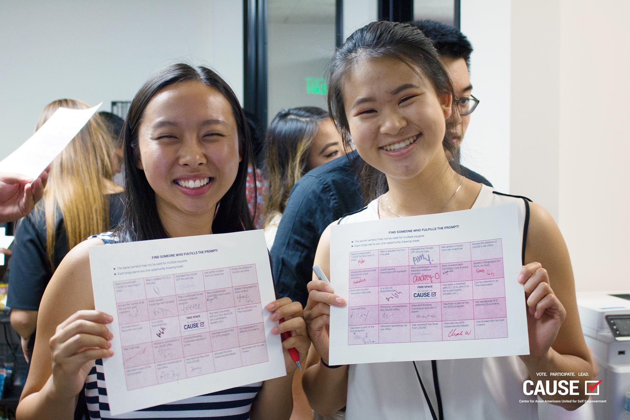 Katherine Hsu and Jocelyn Chi at the 2018 CAUSE Alumni Reception