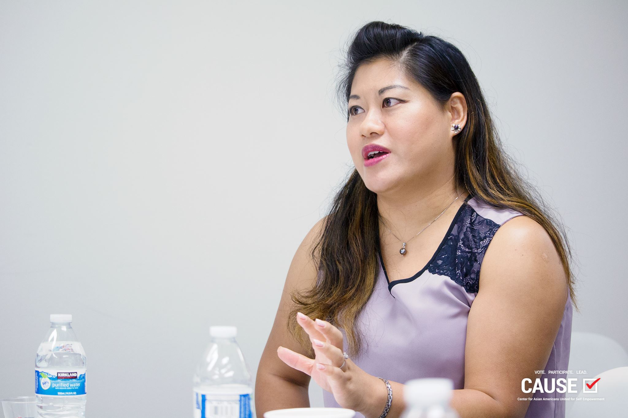 Wenli Jen speaking to the 2018 CAUSE Leadership Academy