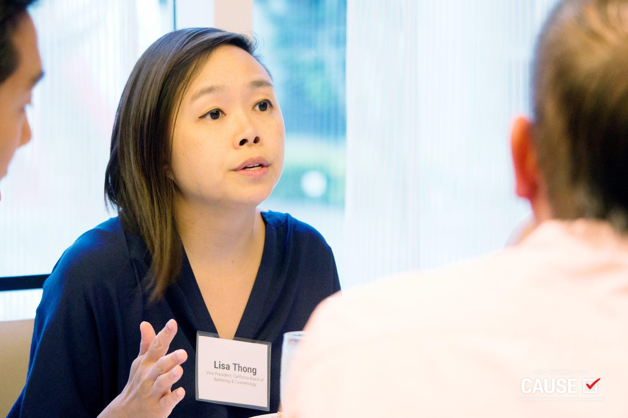 Lisa Thong speaking to CAUSE Leadership Network members
