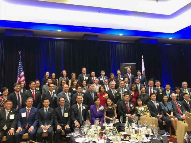 亞美政聯5日晚在洛杉磯市中心舉辦第25屆年度晚宴。(記者張宏/攝影)