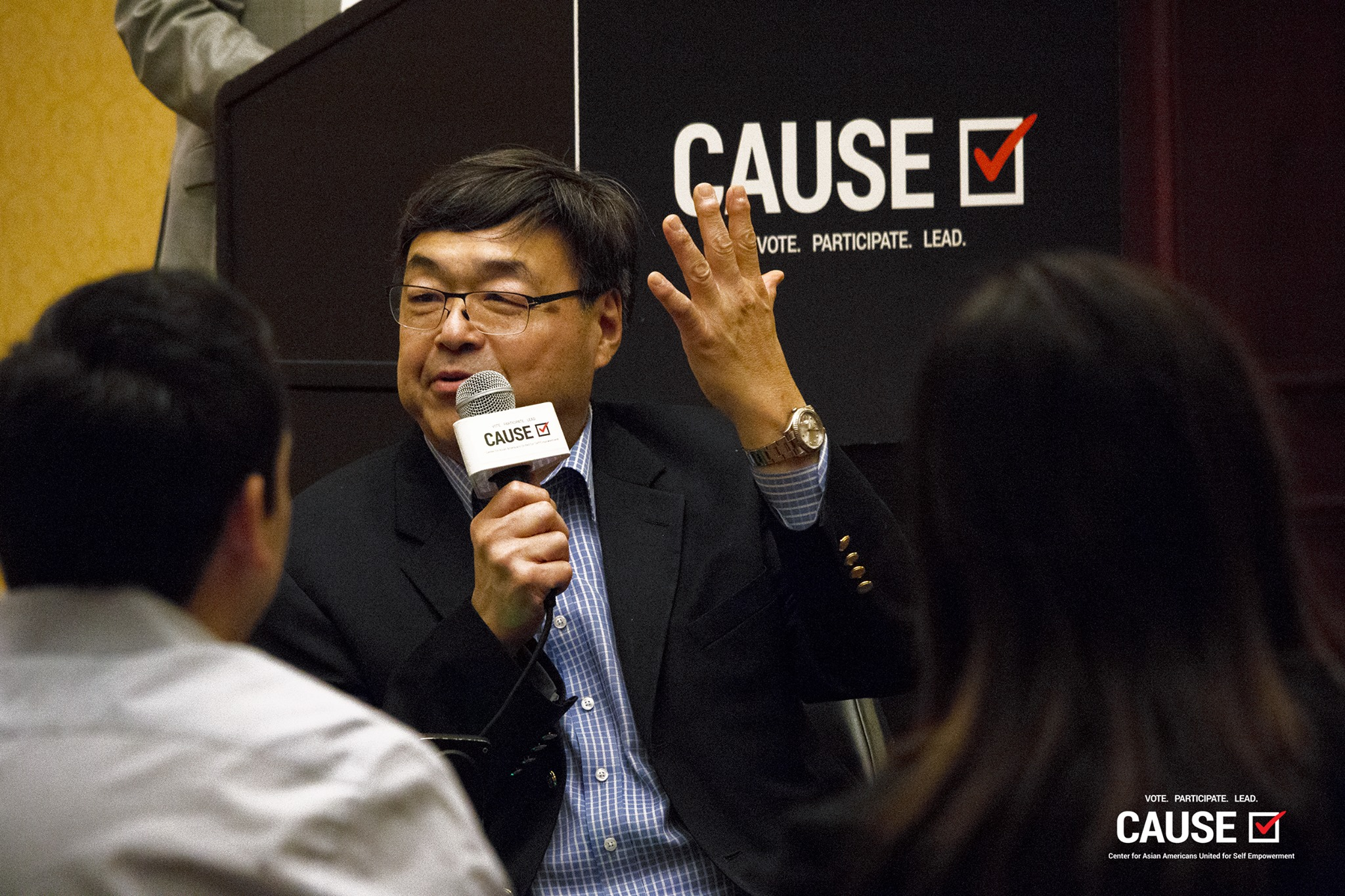 Charlie Woo speaks at the 2018 CAUSE Leadership Institute Graduation