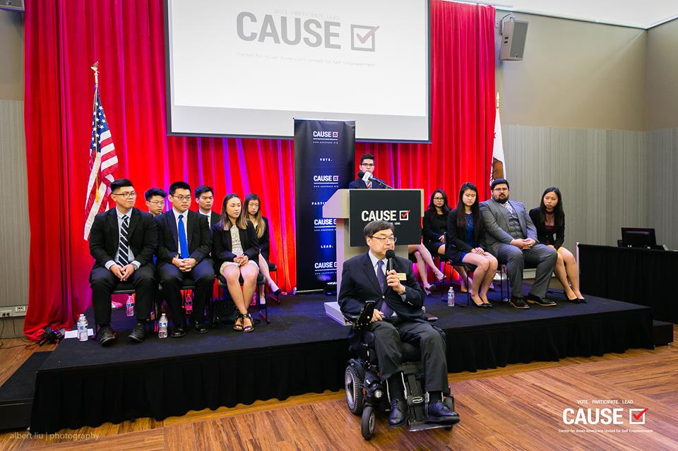 Charlie Woo speaks at the 2018 CAUSE Leadership Academy Graduation