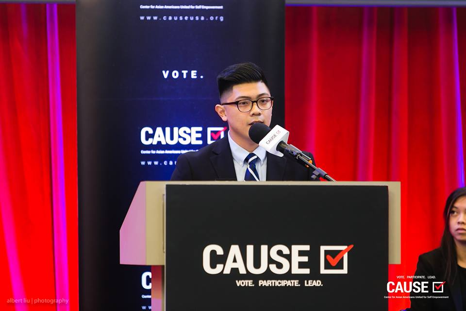 Andy Bui speaks at the 2018 CAUSE Leadership Academy Graduation