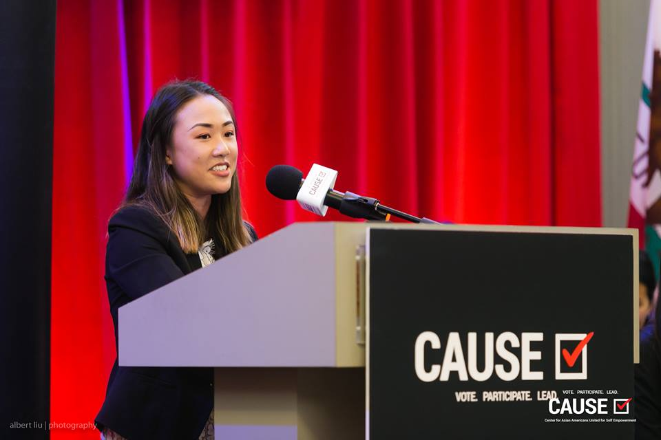 Christine Tran speaks at the 2018 CAUSE Leadership Academy Graduation