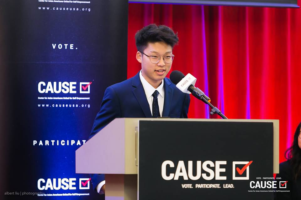 Hesu Song speaks at the 2018 CAUSE Leadership Academy Graduation
