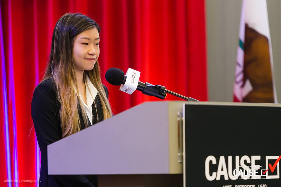 Jenny Feng speaks at the 2018 CAUSE Leadership Academy Graduation