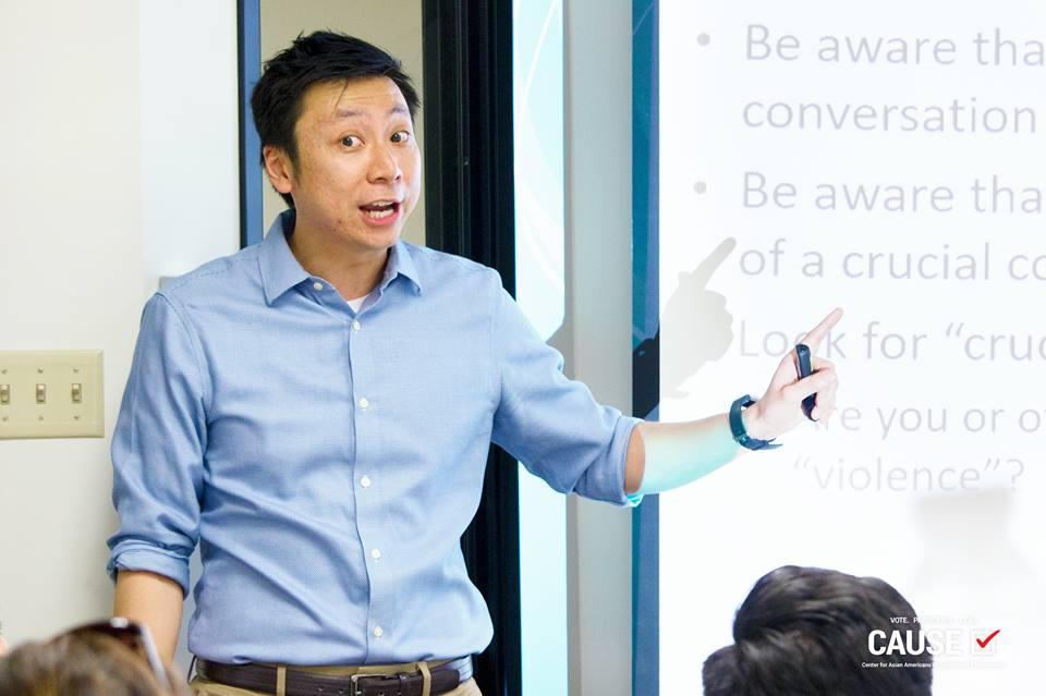 Hayden Lee speaking to the CAUSE Leadership Network