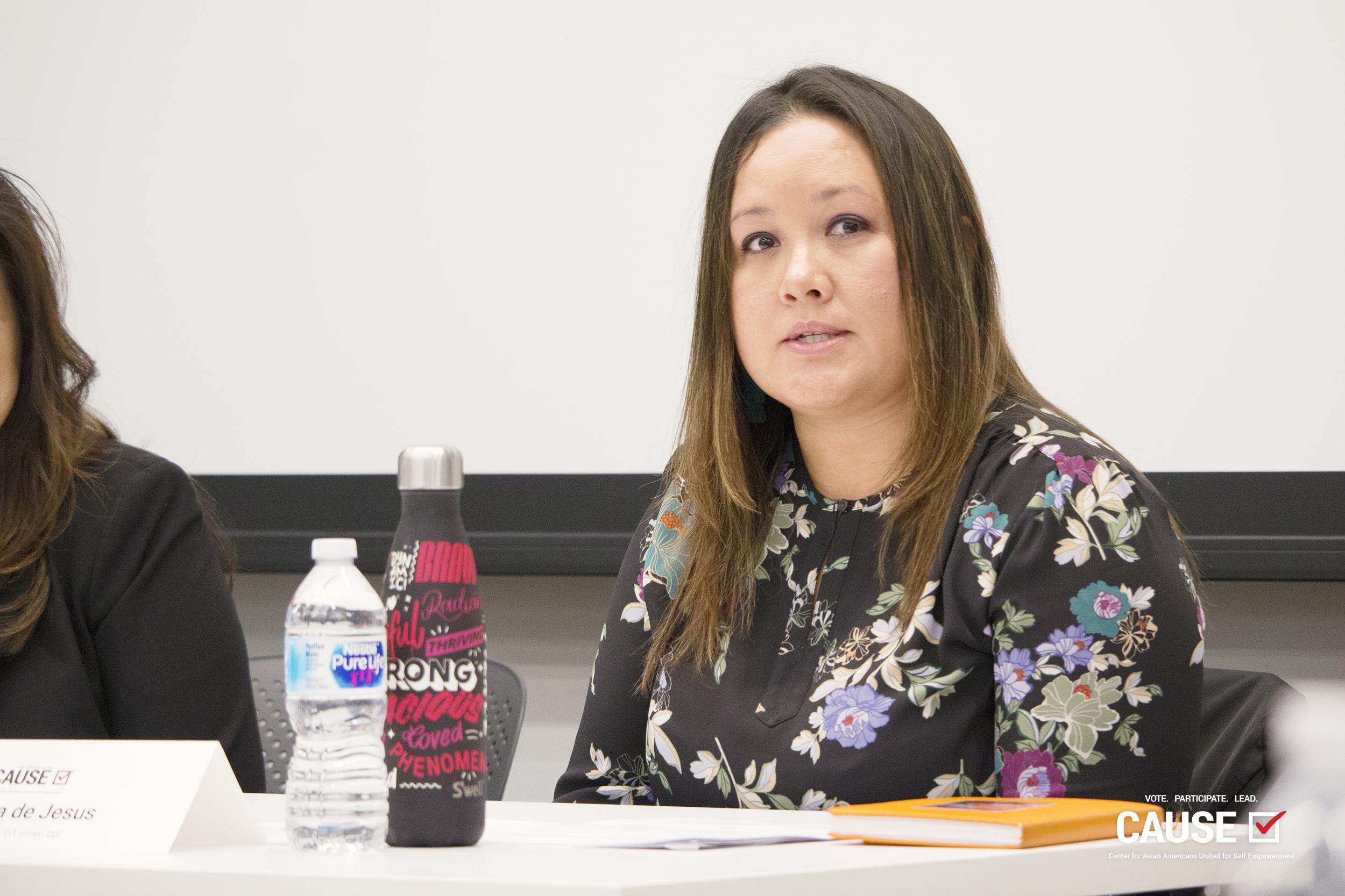 Cristina de Jesus speaking to the 2019 CAUSE Leadership Institute