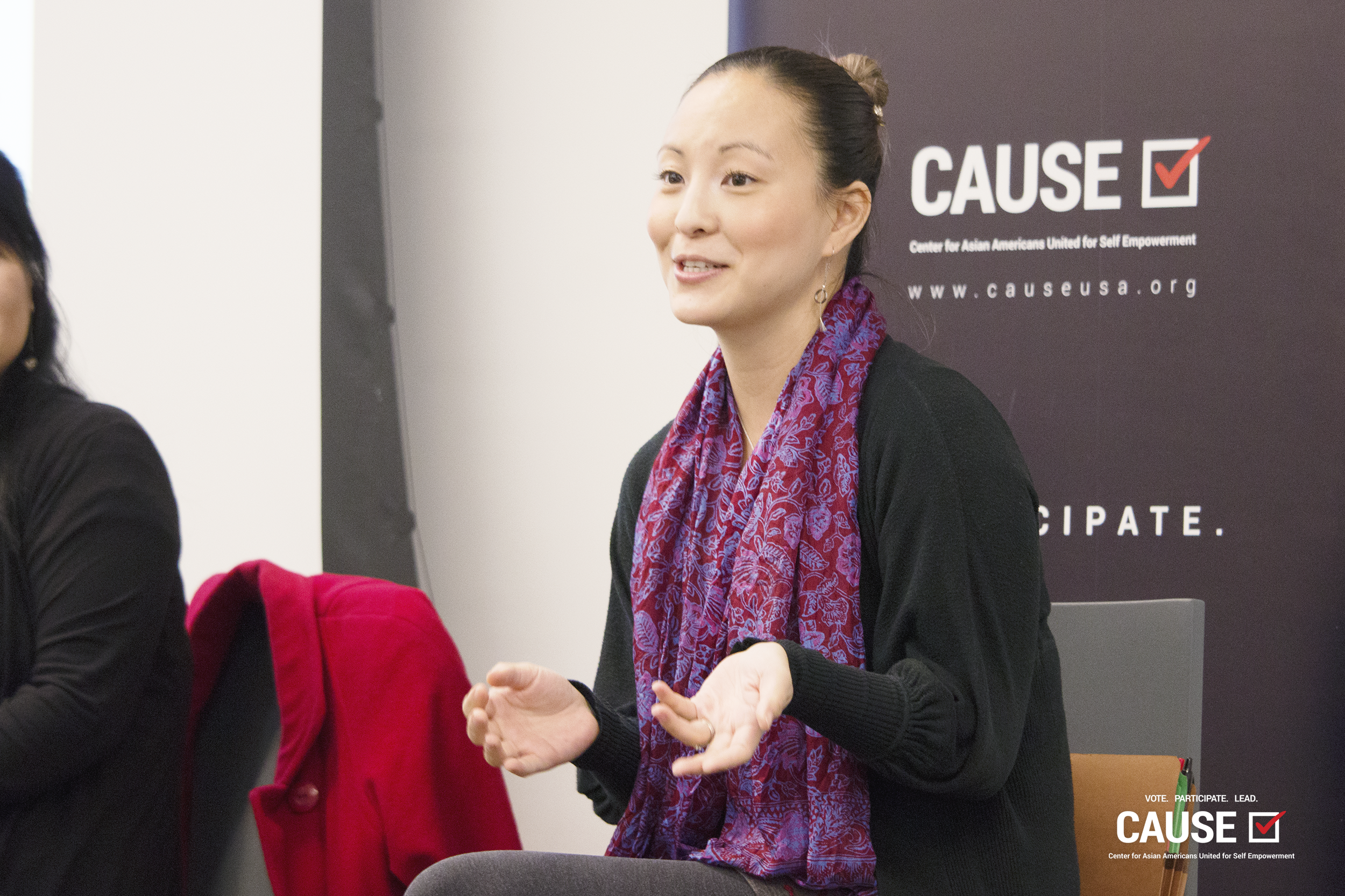 Sylvia Kim speaking to the 2019 CAUSE Leadership Institute