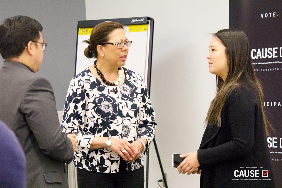 Betty Yee speaking to the 2018 CAUSE Leadership Institute