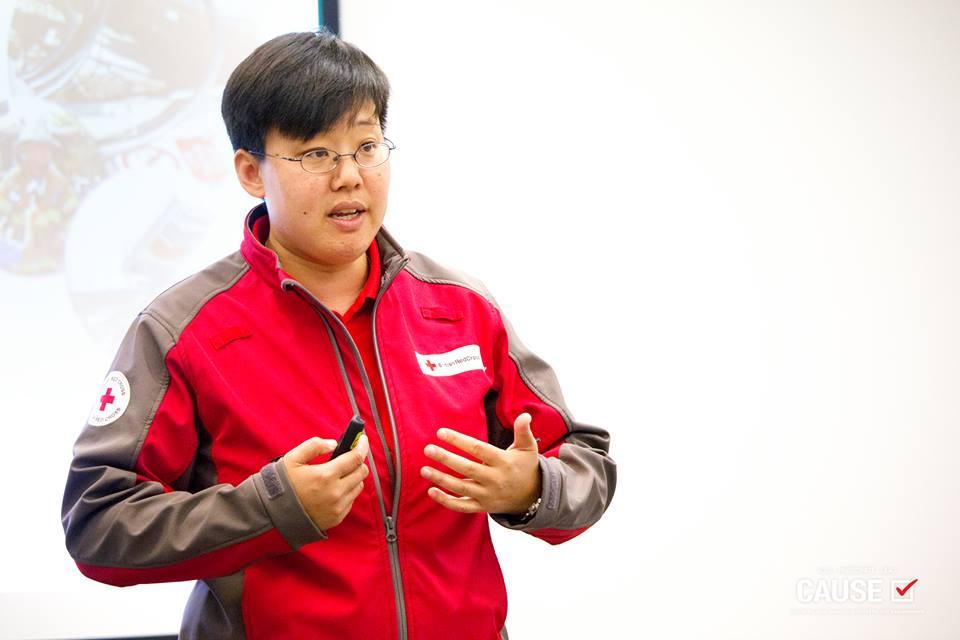 Jeanne Woo speaking to the 2018 CAUSE Leadership Institute
